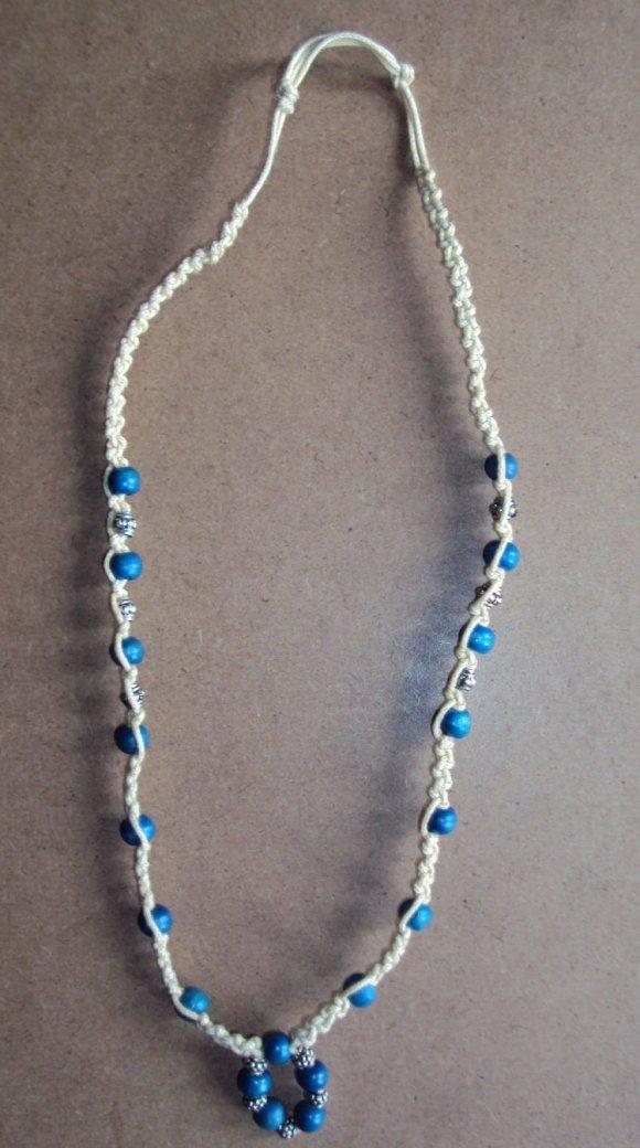 Collar hueso pepas turquesa
