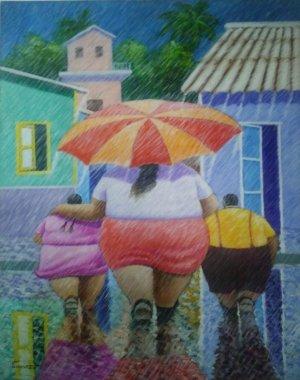 Melchor Terrero - 50 x 40 - Lluvia