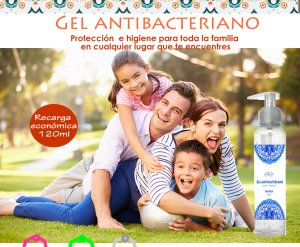 9.- Gel higienizante manos recarga 120ml