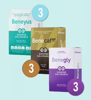 1 Beneyus + 1 Benecaf + 1 Benegly