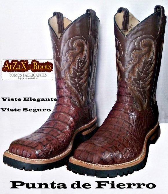 zapatos de temperamento Tener cuidado de nueva alta calidad Botas Vaqueras y Pieles Exoticas ArZaX: Punta con Fierro