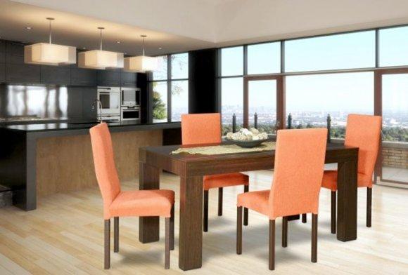 CAON - Mesa y 4 sillas de comedor Dolfin