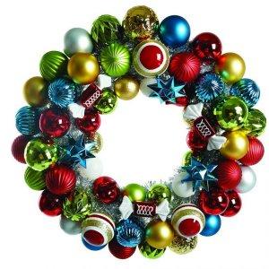 Corona navideña esferas