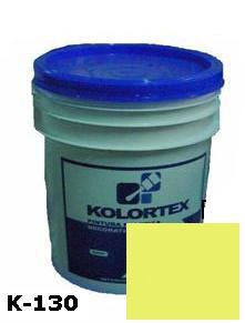 KOLORTEX K-130 AMARILLO MEDIO PLAST. DECO. CUNETE 5GAL
