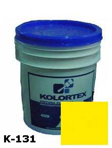 KOLORTEX K-131 AMARILLO INTENSO PLAST. DECO. CUNETE 5GAL