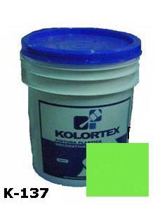KOLORTEX K-137 VERDE MANZANA PLAST. DECO. CUNETE 5GAL