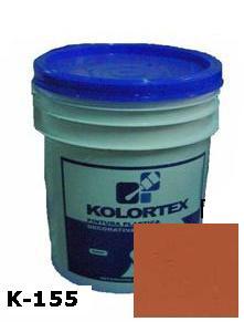 KOLORTEX K-155 MARRON OSCURO PLAST. DECO. CUNETE 5GAL