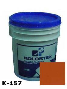 KOLORTEX K-157 MARRON CLARO PLAST. DECO. CUNETE 5GAL