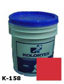 KOLORTEX K-158 ROJO PASSION PLAST. DECO. CUNETE 5GAL