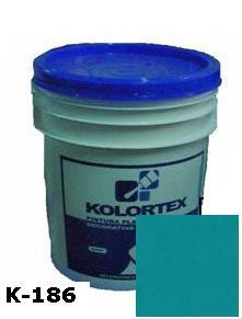 KOLORTEX K-186 AZUL CARIBE PLAST. DECO. CUNETE 5GAL