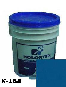 KOLORTEX K-188 AZUL INTENSO PLAST. DECO. CUNETE 5GAL