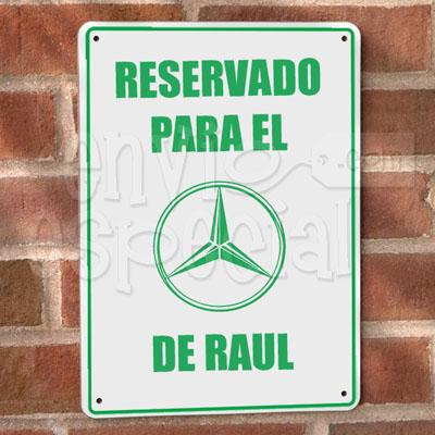 Placa para Garage Personalizada