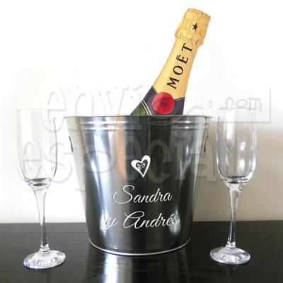 Hielera Personalizada con Champagne