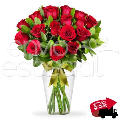 24 Rosas en Jarrón