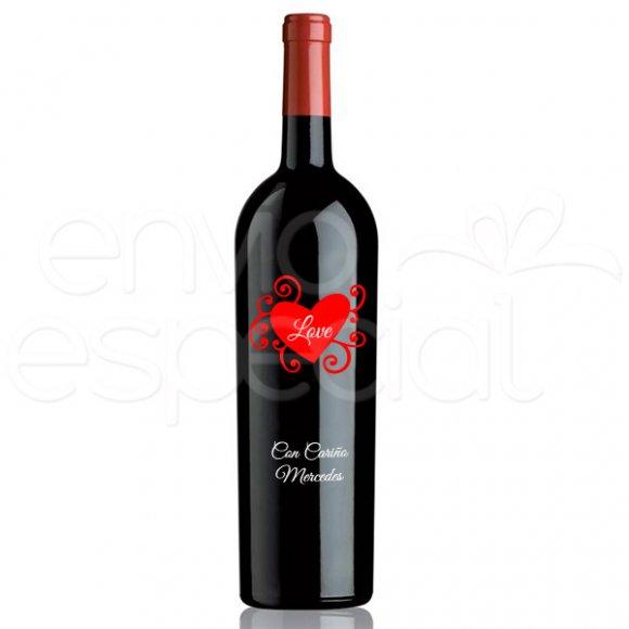 Vino Corazón Love, Personalizado