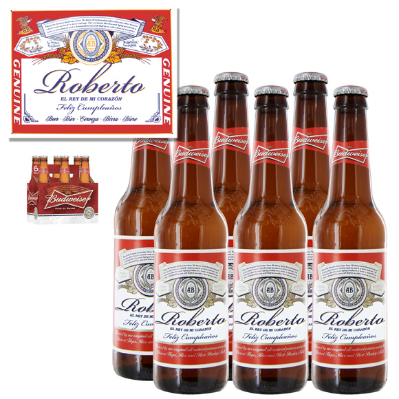 Cerveza Budweiser Personalizada
