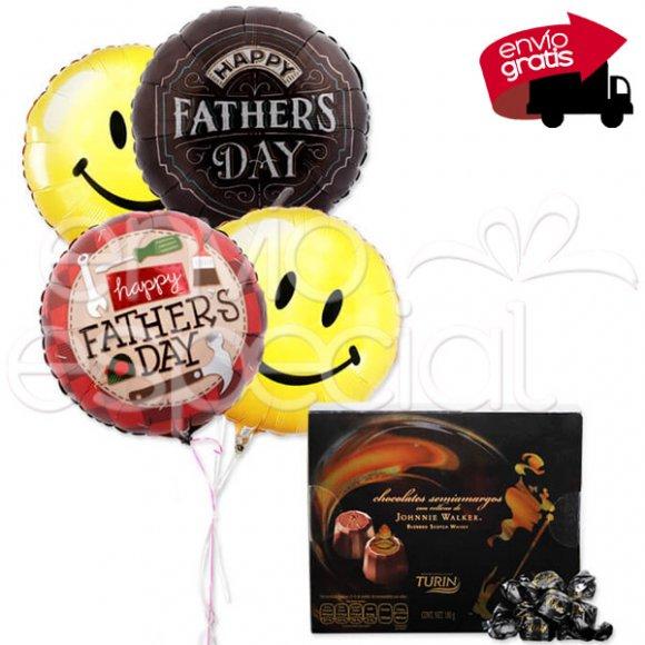 Chocolates y Globos para Papá