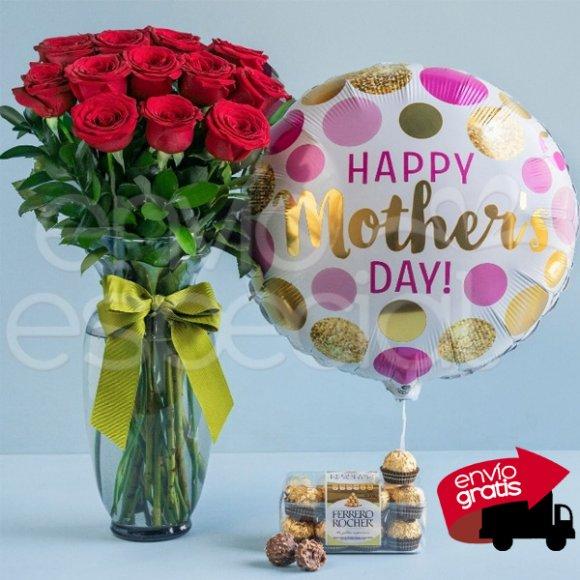 12 Rosas para Mamá, Ferrero y Globo