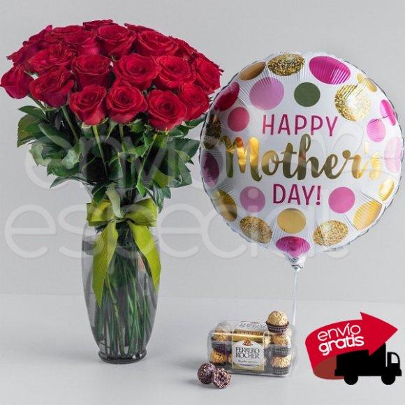 24 Rosas para Mamá, Ferrero y Globo
