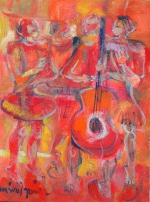 Miguel Gómez-Mujeres con guitarra I