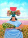 Melchor Terrero-Recolectora de flores con sandía