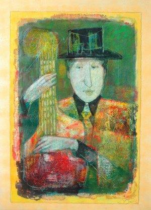 Juan Medina-Músico con sombrero