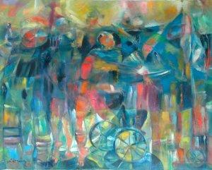 Miguel Gómez-Línea muchachos sobre ruedas