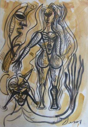 Jesus Desangles-Figuras de manos largas