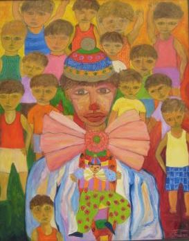 José Perdomo-Payaso con niños