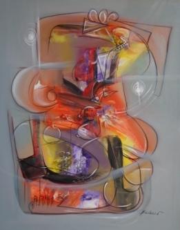 Pablo Palasso-Mujer con uvas sobre la mesa