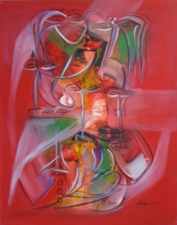 Pablo Palasso-La ciguapa en rojo