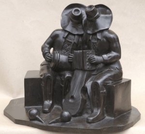 """dionisio Blanco - escultura """"musicos"""