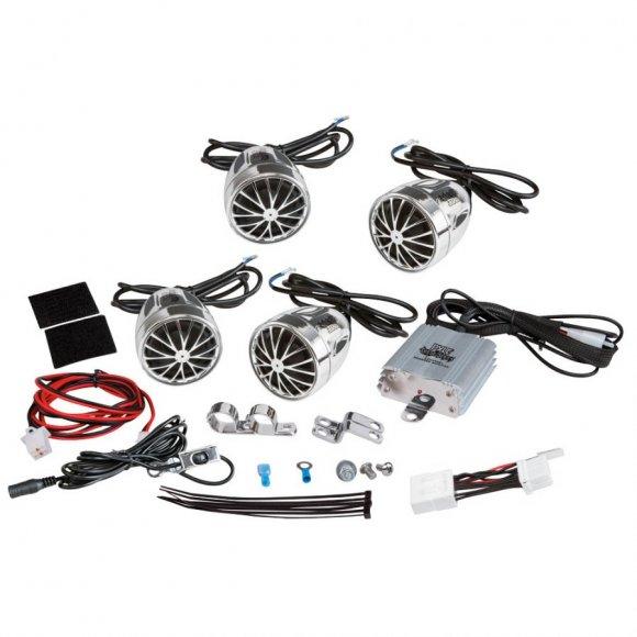 Altavoces de 800W soporte para motocicleta MP3 Amp + 4 manija