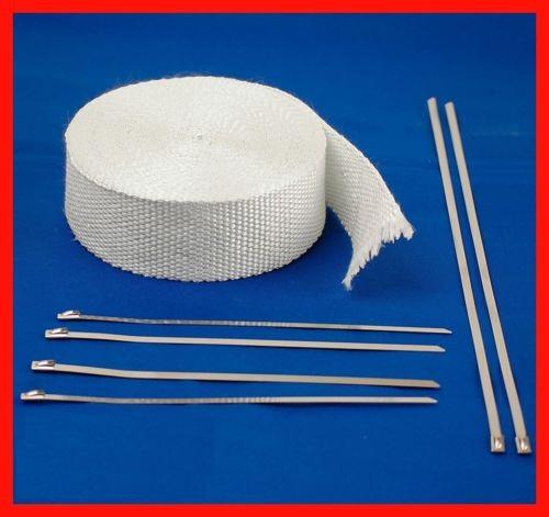 """Aislamiento térmico blanco con lazos de fibra de vidrio 50' largo X 2"""" ancho"""