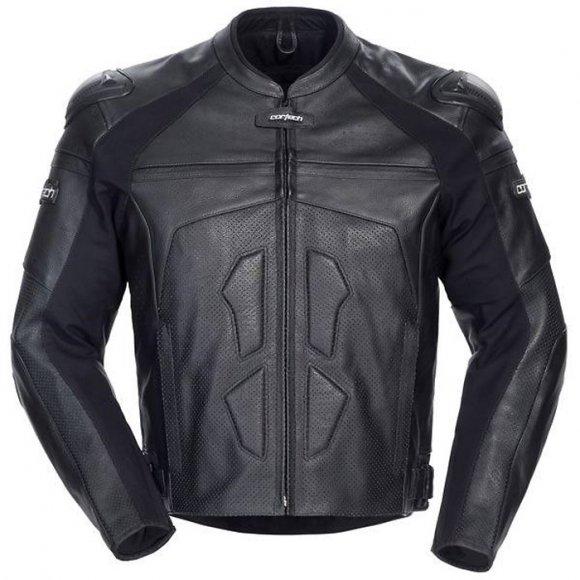 Chaqueta de Cuero color Negro 'Adrenalina' para Hombres - Cortech
