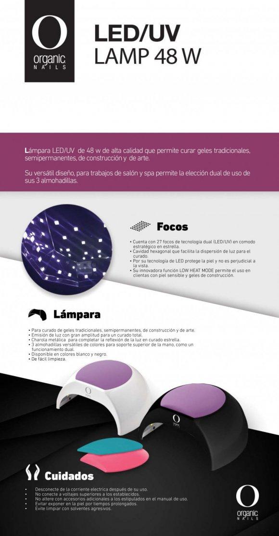 48 LEDUV Nails MonterreyLAMPARA Organic WATS nwP8OXN0k