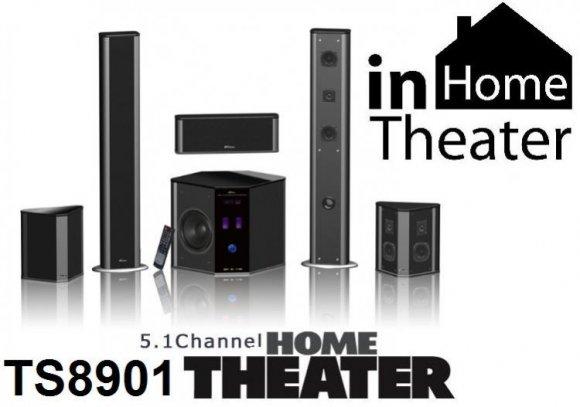 TS8901 Home Theater - Sistema de Sonido Embolvente 5.1, (5 Parlantes, Control Remoto)