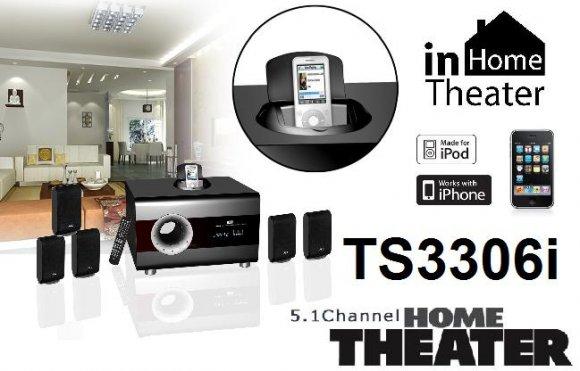 TS3306i Home Theater - Sistema de Sonido Embolvente 5.1, 5 Parlantes, Control Remoto