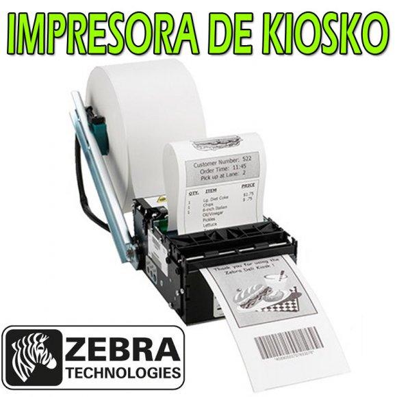 ZEBRA KR203, Impresora de Recibos para Kiosko, Imprime recibos legibles alta calidad, Montaje Flexible gracias a su reducido tamaño, Térmica, USB, Ideal para Impresión de cupones, vouchers, facturas y recibos, autoserv., etc., Carga de suministro autom.