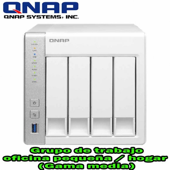 QNAP TS-431, 4-bay Personal Cloud NAS with DLNA, mobile apps and AirPlay support, Freescale ARM Cortex-A9 Dual Core 1.2GHz, 512MB RAM, USB3.0, 2-LAN Hot-swappable, Hardware Transcoding Engine , NO HD