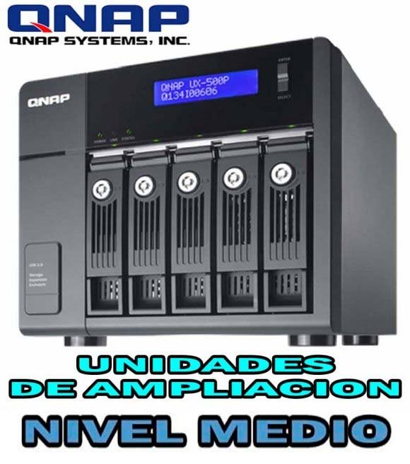 QNAP UX-500P, 5-bay Storage Expansion Enclosure, Desktop, SATA 6Gbps, USB 3.0, Designed for TS-x69 Pro and TS-x69L series, NO HD