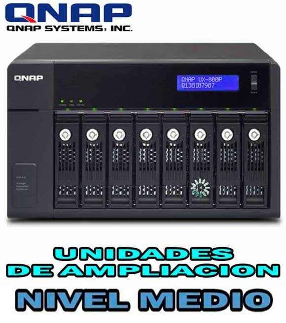 QNAP UX-800P, 8-bay Storage Expansion Enclosure, Desktop, SATA 6Gbps, USB 3.0, Designed for TS-x69 Pro and TS-x69L series, NO HD