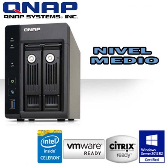 QNAP TS-253-PRO, Pro 2-Bay Professional-grade NAS, Intel Celeron Quad Core 2.0GHz, 2GB DDR3L RAM (max 8GB), SATA 6Gb/s, 2 Giga LAN, Read 224MB/s, Write 222MB/s, hard.transcoding, HDMI, XBMC, Virtualization Station, Surveillance Station, NO HD