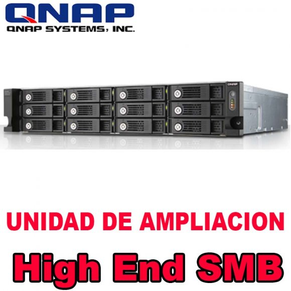 QNAP UX-1200U-RP, 12-bay rack expansion enclosure with hot-swappable HDD design, SATA 6Gbs, auto on/off with NAS power status. Without Rail Kit, NO HD