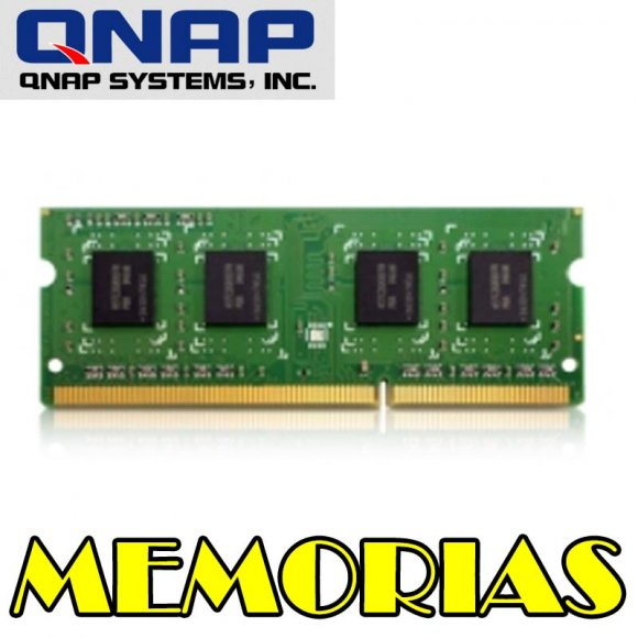 QNAP 8GDR3L-SO-1600, Memoria RAM 8GB DDR3L RAM, 1600 MHz, SO-DIMM, For TS-x51, 451U, x53, x53U series (suggest to use the same size memory for both memory slots) and TVS-x63 series