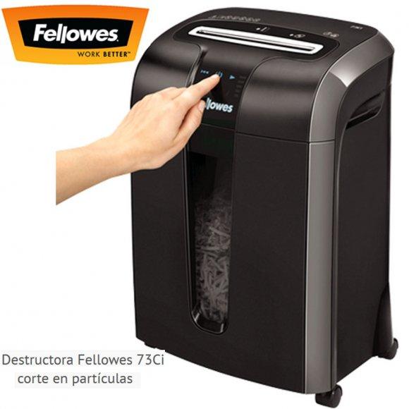 Fellowes 73Ci, Destructoras de Documentos pequeña/mediana empresa, Destructora super rápida, permite destruir hasta 100 hojas por minuto, Ideal para Uso Frecuente. Pequeña Empresa. 1-3 usuarios, corte en partículas