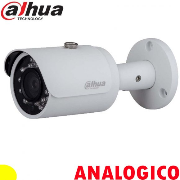 Dahua DH-HAC-HFW1200SN-0360B, CAMARA HDCVI CCTV ANALOGICA GAMA BASICA TIPO BALA METALICA, 2MP, 3.6MM, SMART IR30M, DÍA/NOCHE, AWB, AGC, BLC, 2DNR, IP67, DC12V, NTSC