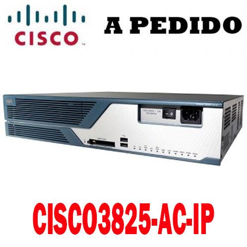 Cisco Router CISCO3825-AC-IP, Cisco 3800 Router PoE, 3825 w/AC+POE, 2GE, 1SFP, 2NME, 4HWIC, IP Base, 128F/512D