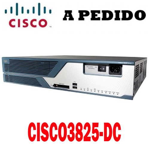 Cisco Router CISCO3825-DC, Cisco 3800 Router DC Power Supply, 3825 w/DC PWR, 2GE, 1SFP, 2NME, 4HWIC, IP Base, 128F/512D
