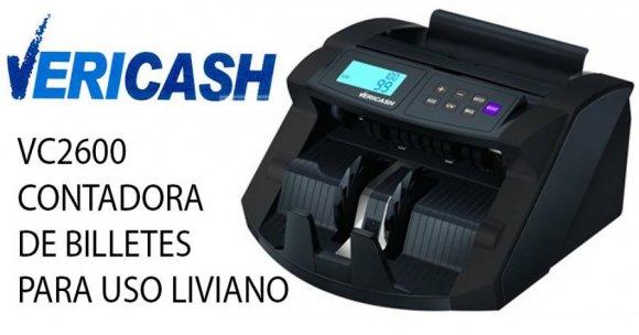 Vericash VC2600 CONTADORA DE BILLETES PARA USO LIVIANO